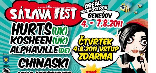 Mapy.cz v mobilu provedou návštěvníky SÁZAVAFESTU, čtvrtek ZDARMA