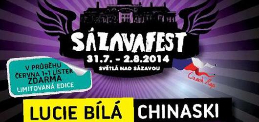 Vyhrajte vstupenky na Sázavafest a protančete noci s výběrem toho nejlepšího (nejen) z domácí hudební scény!