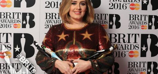 Adele ovládla BRIT Awards. Bodovala hned ve čtyřech kategoriích