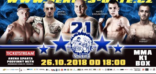 Heroes Gate 21 představí nejlepší bojovníky MMA, K1 i boxu