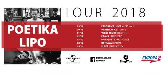 Poetika a Lipo vyráží na společné turné. V sedmi městech představí nevšední spojení rapu a popu