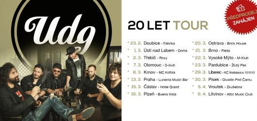 Kapela UDG příští rok oslaví 20 let na hudební scéně, pro fanoušky chystají turné i další překvapení