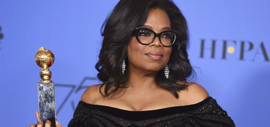 Ženskou revoluci na Zlatých glóbech vedla Oprah Winfrey
