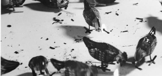 Grygarovo zkoumání zvuku v kresbě i malbě. Věříte jeho konceptu?