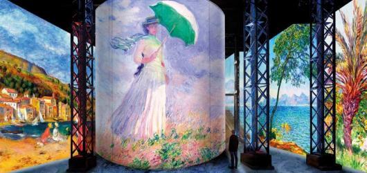 #MuzeumJinak: Nastražte zrak i sluch a vstupte do obrazu v pařížském Atelier des Lumières