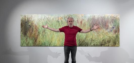 Jiří David rozšiřuje výstavu v DOXu o pět nových maleb