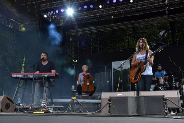 Mig 21 oslnil diváky na Okoři svou světelnou show