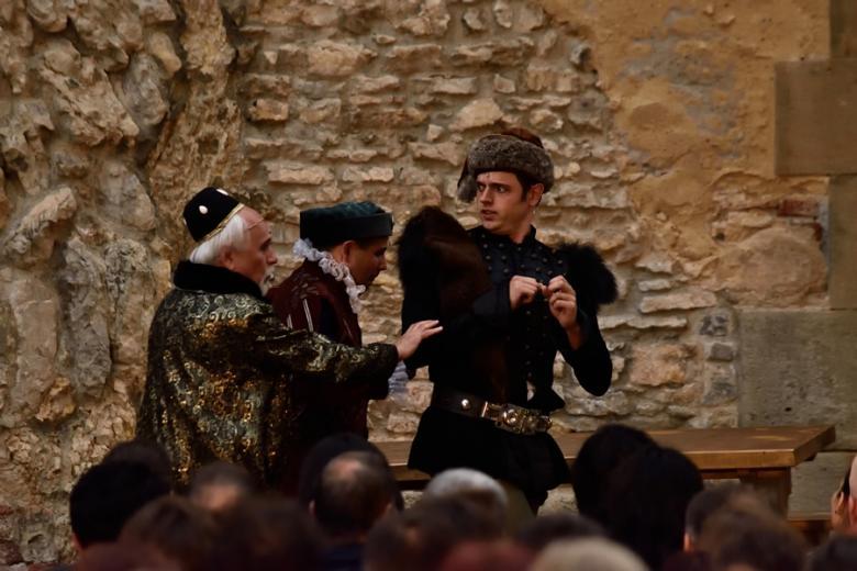 Muzikál Noc na Karlštejně baví během prázdninových víkendů diváky přímo na Karlštejně