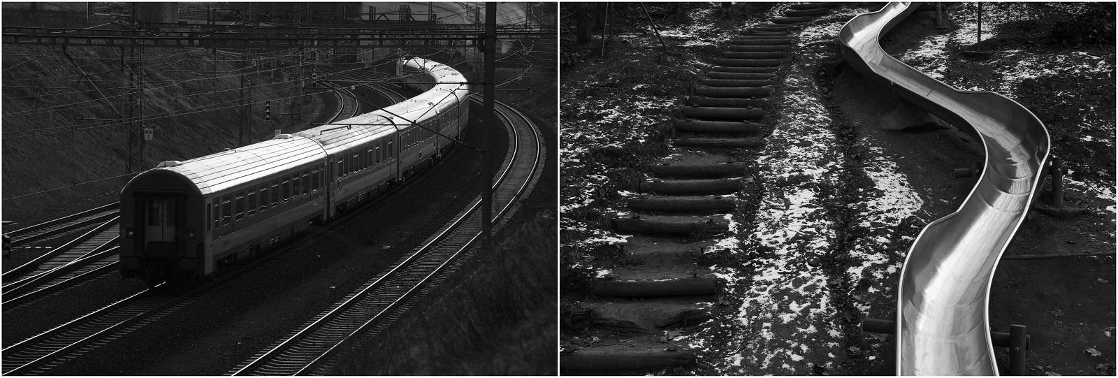 Vlevo: Praha 2015, Libeň – Z kopce Sluncová; vpravo: Praha 2015, Radlice – Dětské hřiště v ulici Pechlátova © Jaroslav Kučera