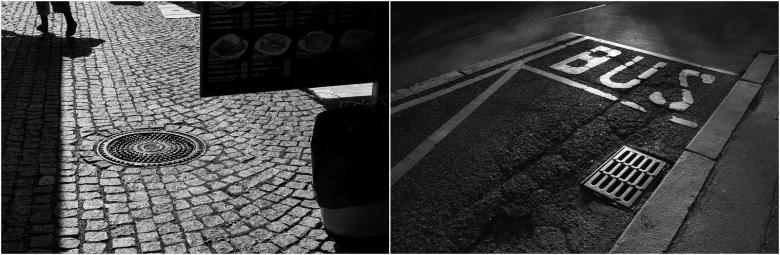 Vlevo: Praha 2015 – V Holešovické tržnici; vpravo: Praha 2015, Pankrác – Ulice Děkanská vinice © Jaroslav Kučera