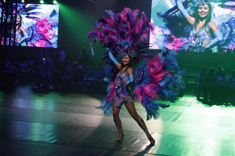 Na taneční show jste mohli spatřit i brazilské tance. Foto: Adam Skalník