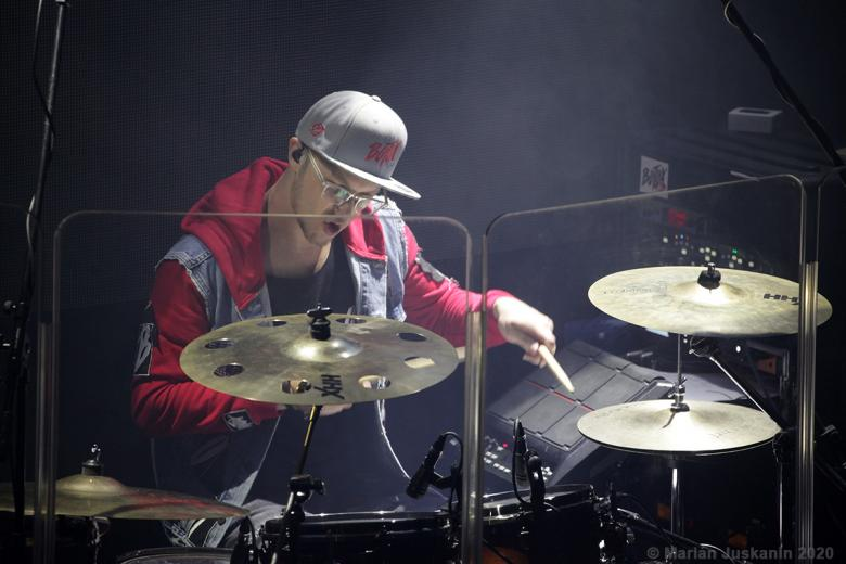 Bubeník kapely Botox Matěj Diviš