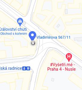 Kontakt: Náměstí Bratří Synků 1748/17, Nusle, 140 00 Praha 4